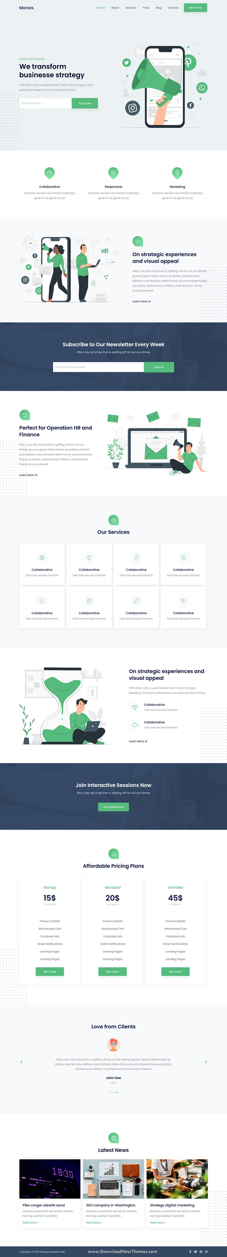 Saas and Startup Elementor Template Kit