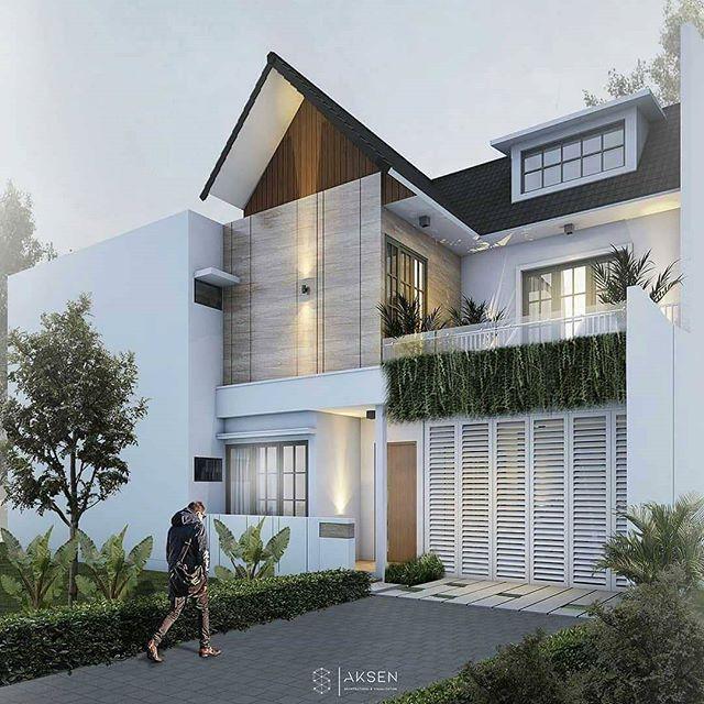 model rumah dua lantai