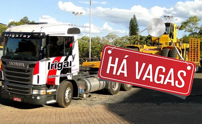 Grupo Irigaray abre vagas para Motorista Munck