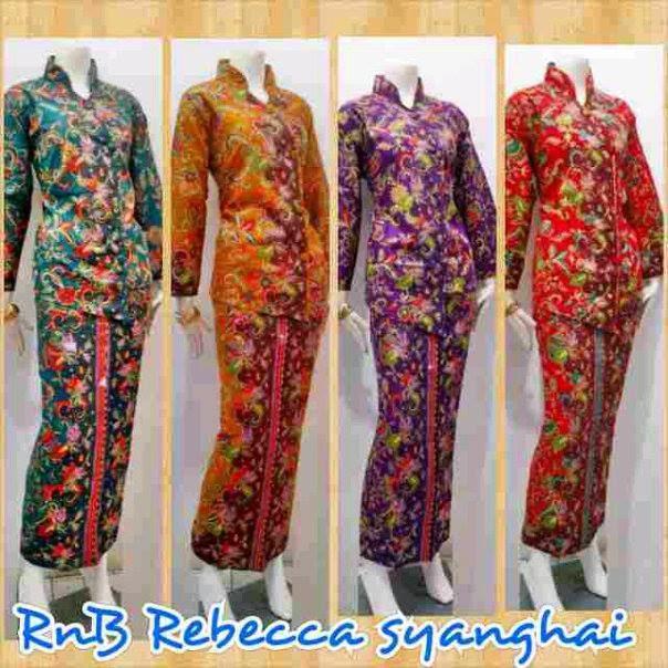 Baju Wanita Model Busana Batik Setelan Rok Blus Panjang