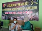 Pangdam V Brawijaya Bersama Rombongan Kunker ke Situbondo  Pantau Serbuan Vaksinasi Covid- 19 di SMA Negeri 1 Panji