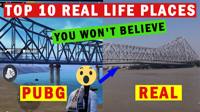 Real Life Places In PUBG-Top 10 Real Places In Erangel Map You want believe
