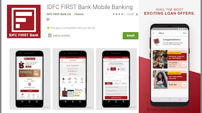 IDFC Bank Cheque Book Request - Mobile app