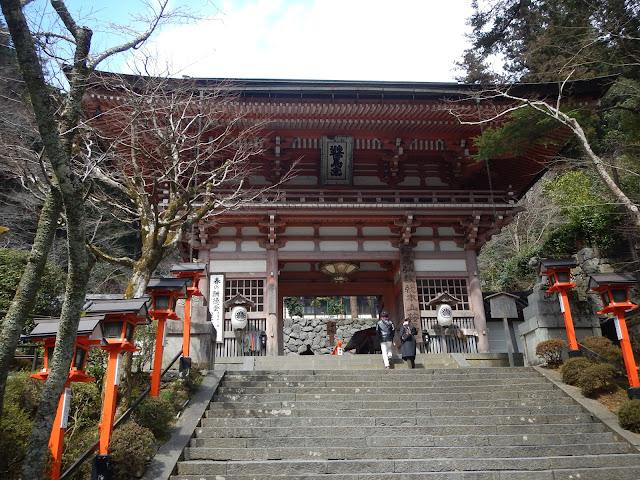 La puerta principal (Niomon) del templo de Kurama