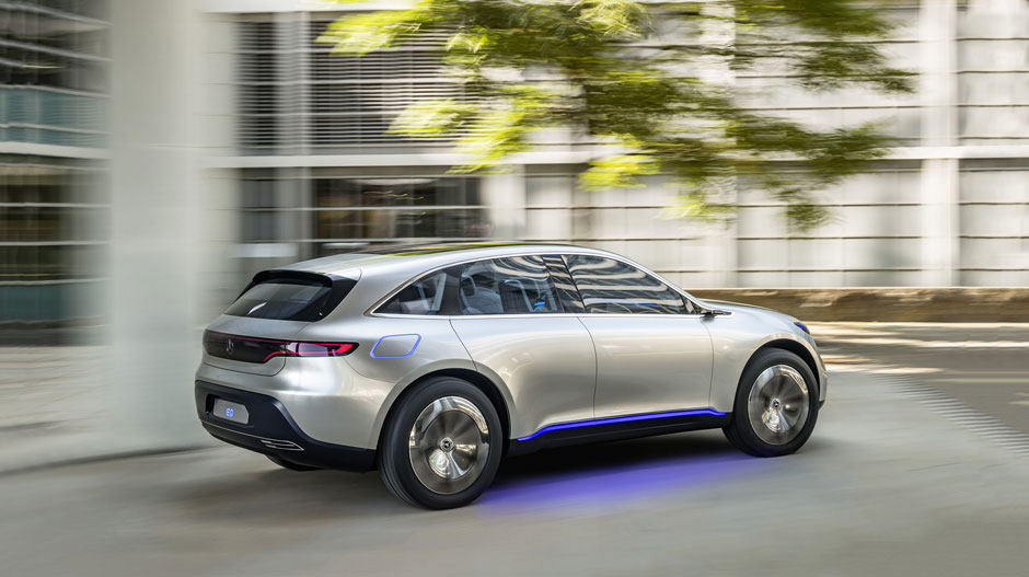 Mercedes benz eq electro look future suv concept car for Mercedes benz concept eq