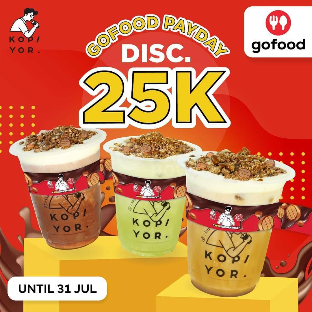 Kopi Yor Payday Promo Gofood Diskon hingga Rp. 25.000