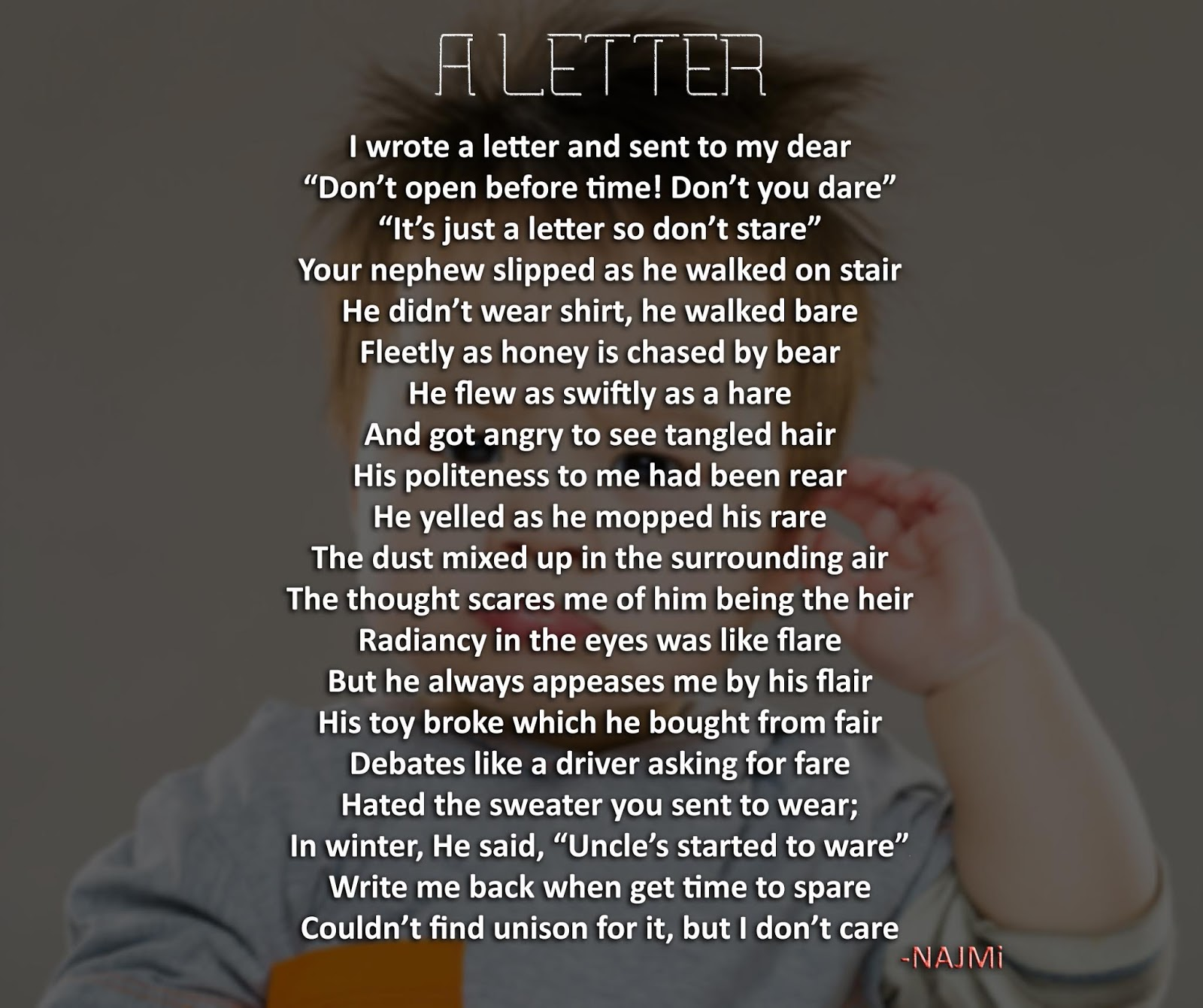"""""""A Letter"""" 