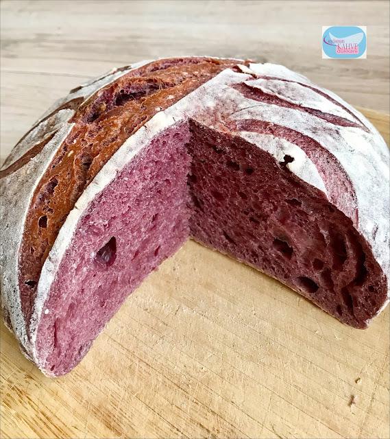 mor havuçlu ekmek , ekşi mayalı ekmek, mor havuçlu ekşi mayalı ekmek