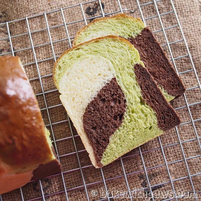 Pandan Chocolate Milk Loaf