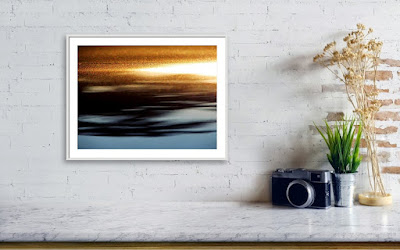 A Recently Sold Framed print of a Minimalist Photograph titled Setting Sun