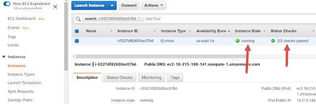 AWS EC2 Instance Status Check
