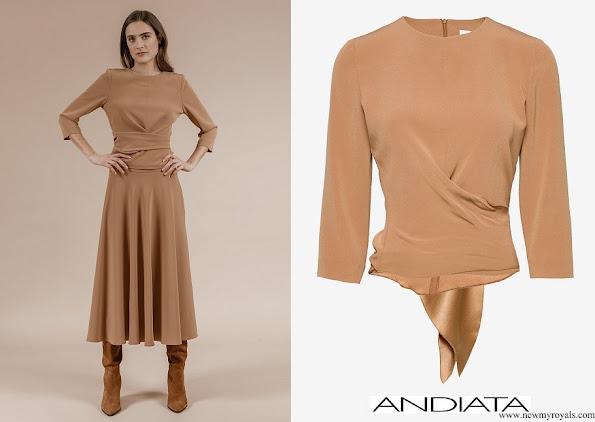 Crown Princess Victoria wore Andiata kiana blouse