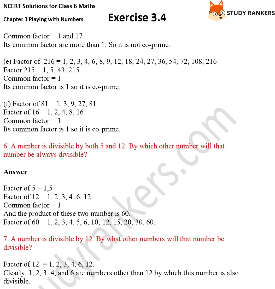 NCERT Solutions for Class 6 Maths Chapter 3 Playing with Numbers Exercise 3.4 Part 3