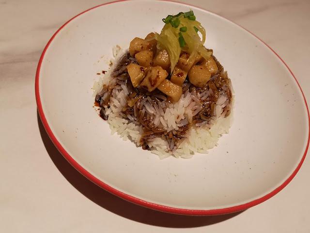 Pork lardon rice