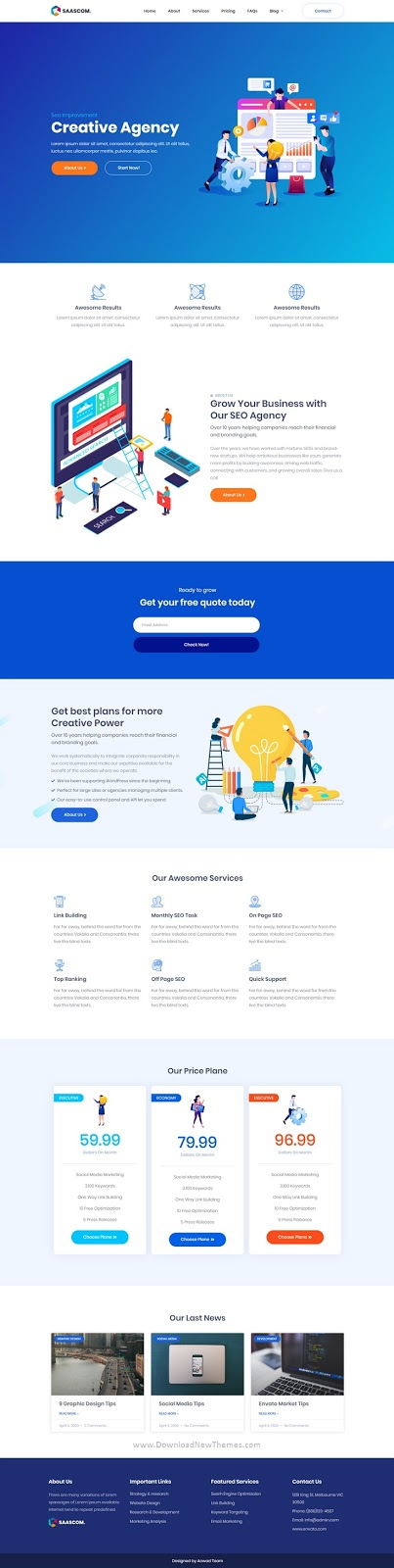 Digital Marketing & SEO Agency Template