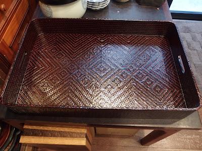 籃胎漆器衣装盆 (らんたい) 61×39×8.5㎝