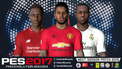 PES 2017 Next Season Patch 2019 AIO Season 2018/2019