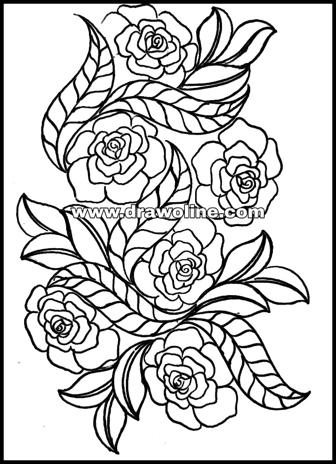 Top 3 new embroidery flower design sketch/embroidery designs outline patterns,