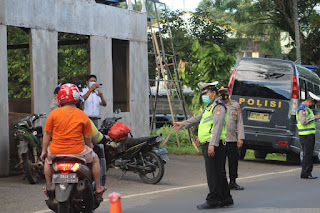 Pantau Penerapan Prokes, Polres Luwu Timuri laksanakan Operasi yustisi