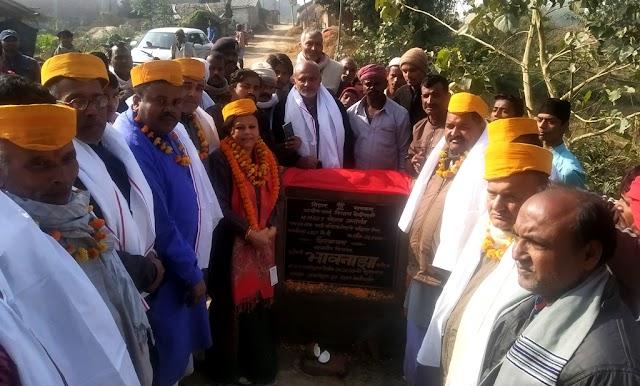 विधायक ने पाली व ब्रह्मपुरा में सड़क का किया शिलान्यास