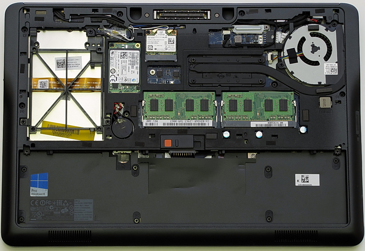 Dell Latitude E7440, componenti interni