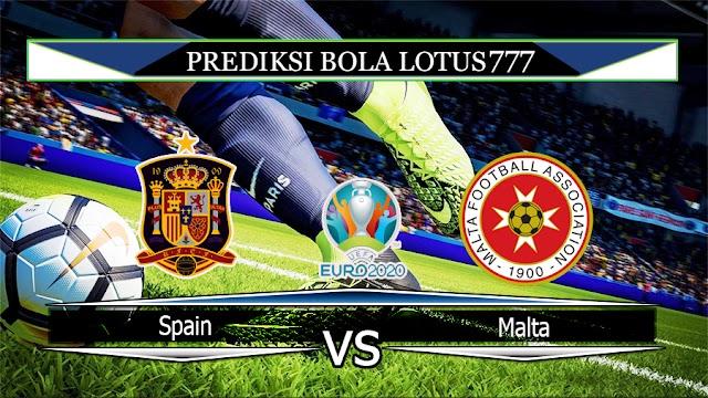 Prediksi Spain vs Malta 16 November 2019