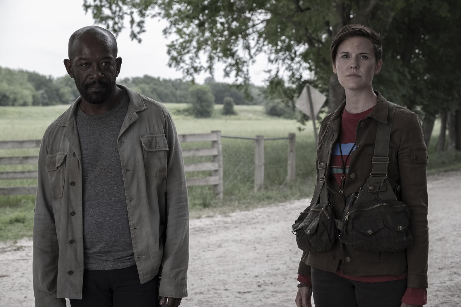 Althea y Morgan, en el episodio 5x11 You`re Still Here de Fear The Walking Dead