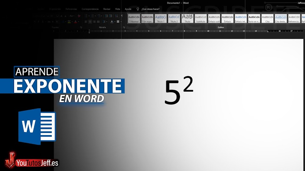 Como Poner Exponente en Word