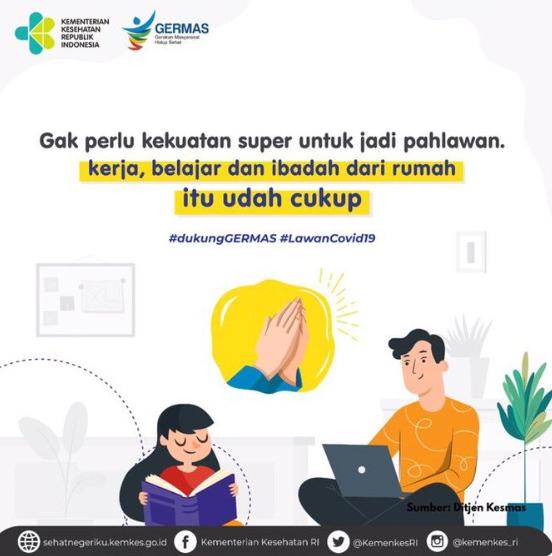 Poster Cara Jadi Pahlawan Melawan Coronavirus