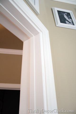 covering holes in door frame