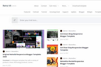 [GRATIS] Download Fletro v6.0 Safelink Premium Blogger Template