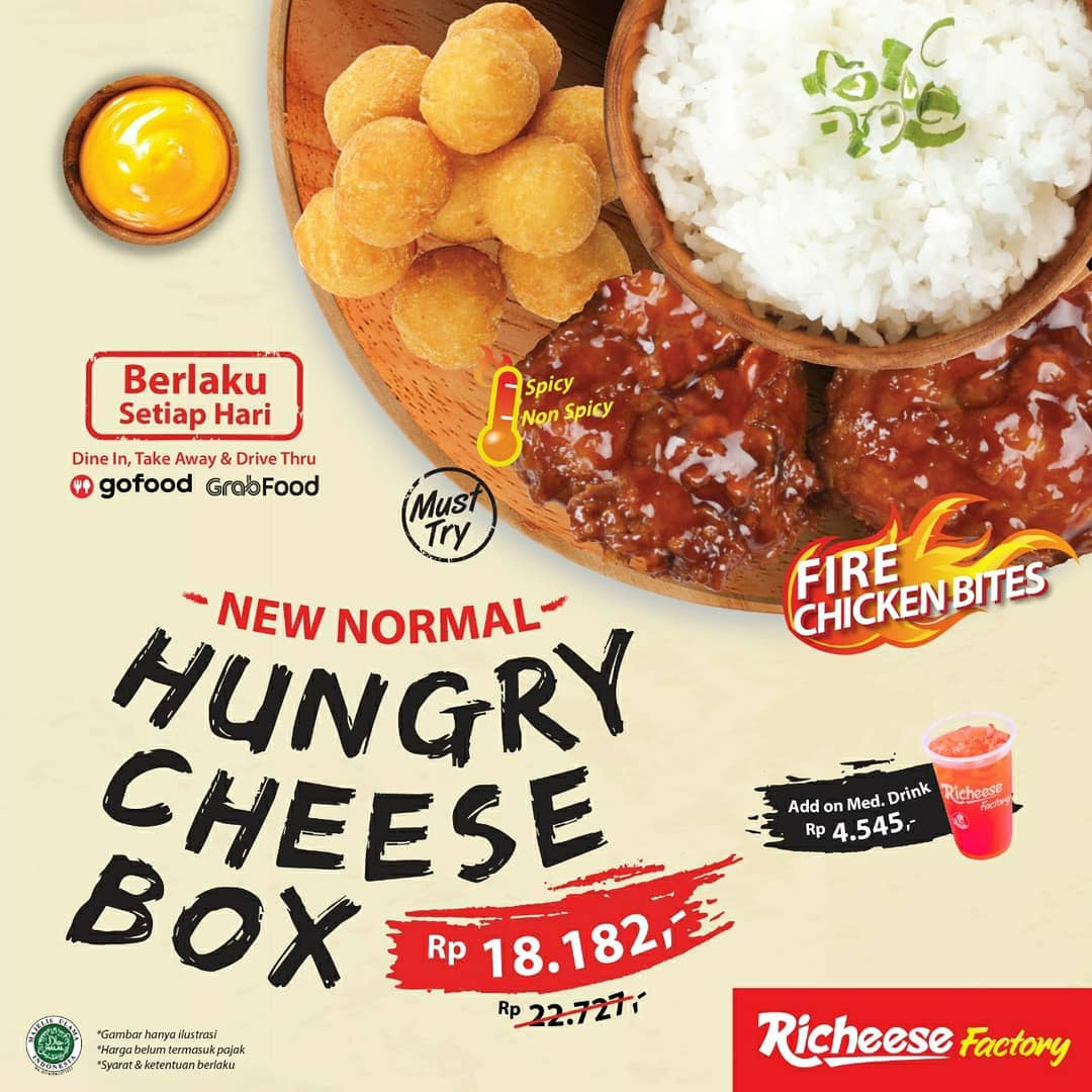 Promo Richeese Factory Hungry Cheese Box Rp 18.182