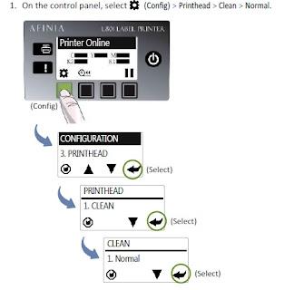 L801 Control Panel-Clean Printhead