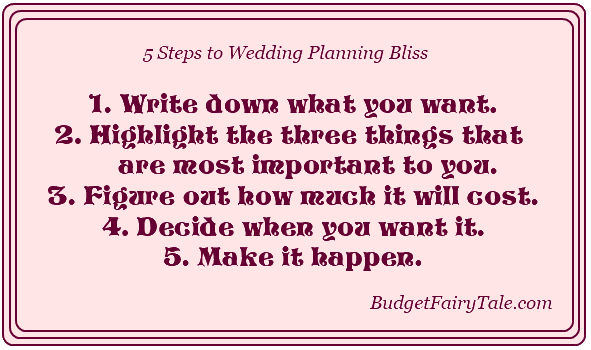 5 Steps to Wedding Planning Bliss