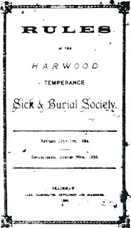 Rule Book of the Harwood Temperance Sick & Burial Society