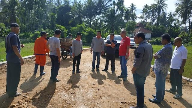 Riza Falepi Tinjau Lokasi Rencana Pembangunan Normalisasi Batang Lampasi
