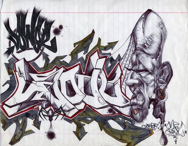 Graffiti Drawings In Paper Tutorial