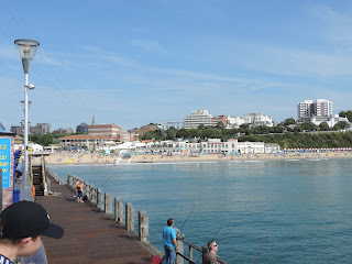 fishermen and ziplines on bournemouth pier
