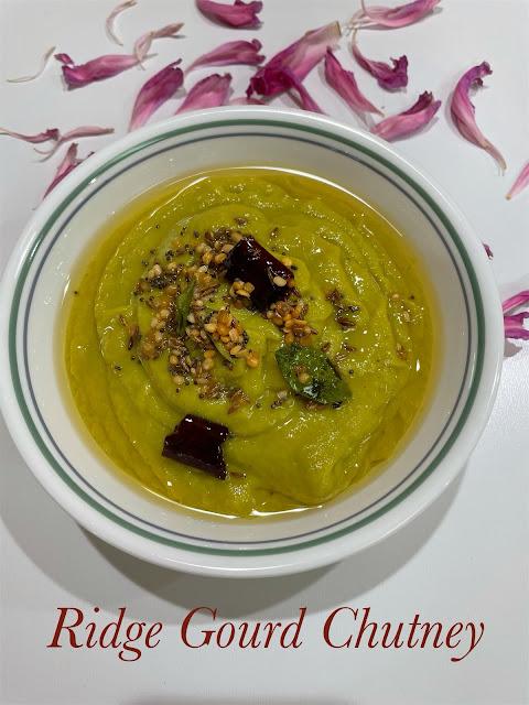 Beerakaya Pachadi / Ridge Gourd Chutney