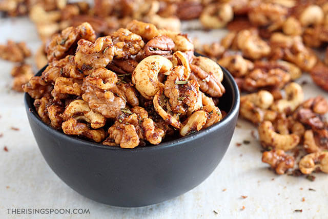 Savory Rosemary Spiced Nuts Recipe (Gluten-Free with Paleo Option)