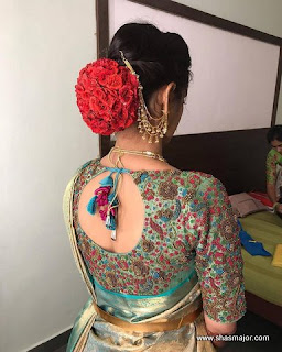 saree blouse neck design