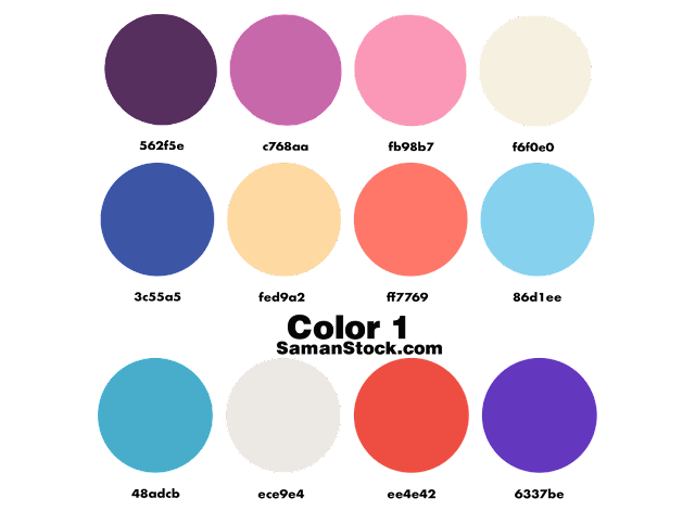 Color Palette Orange PNG 12 Color Combinations | Samanstock