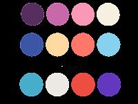 Color Palette Orange PNG 12 Color Combinations | Samanstock