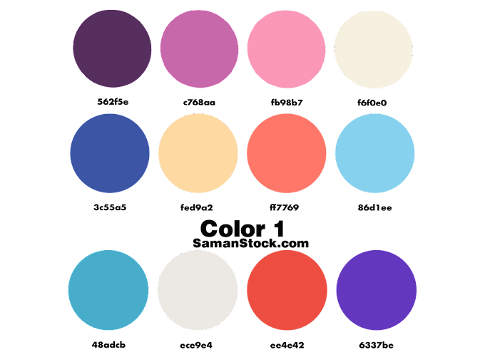 Color Palette Orange PNG 12 Color Combinations   Samanstock