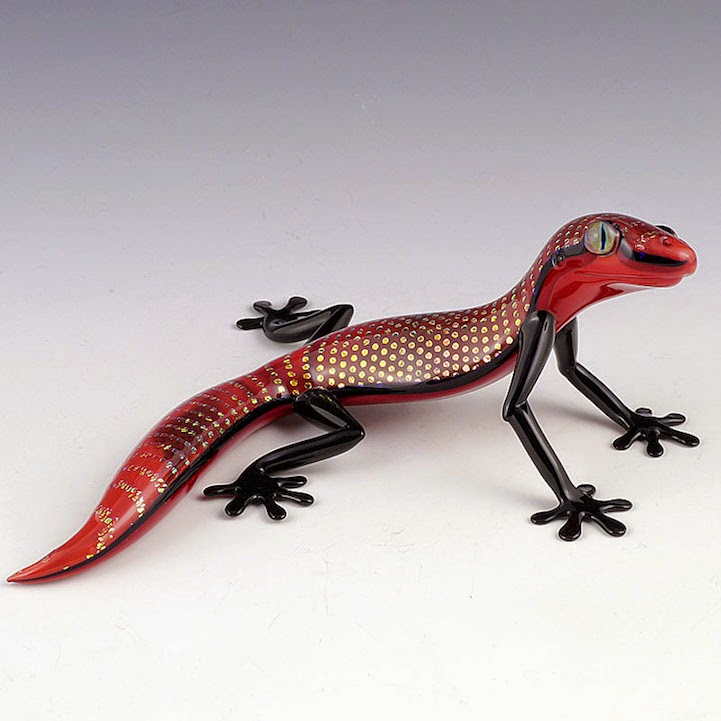 hand blown glass creatures sculptures scott bisson-3