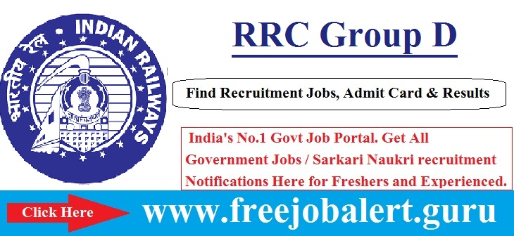 RRC Group D Notification 2016-17 | 1884 Vacancies Age limit is 18 to 32
