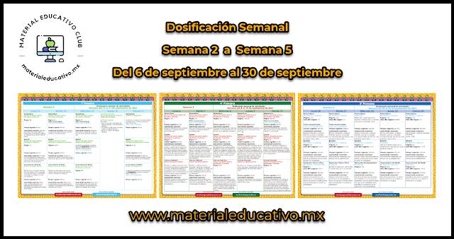 Dosificación Semanal de Aprende en Casa de MDA del 4 al 29 de octubre 2021