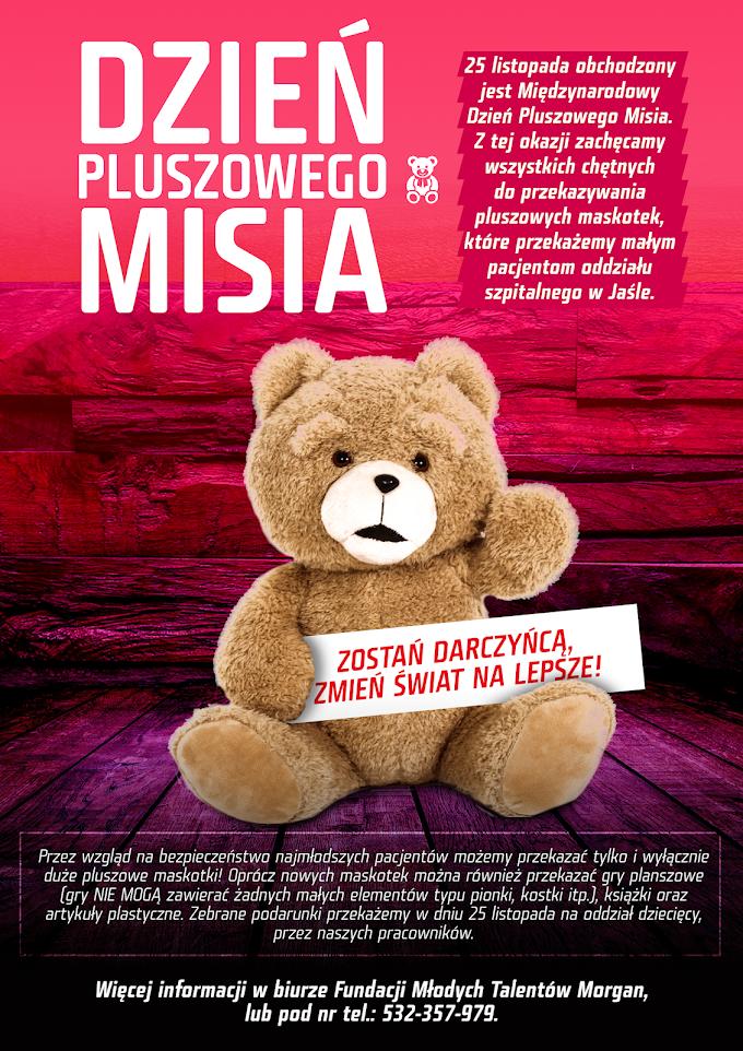 Dzień Pluszowego Misia - zostań darczyńcą, zmień świat na lepsze!
