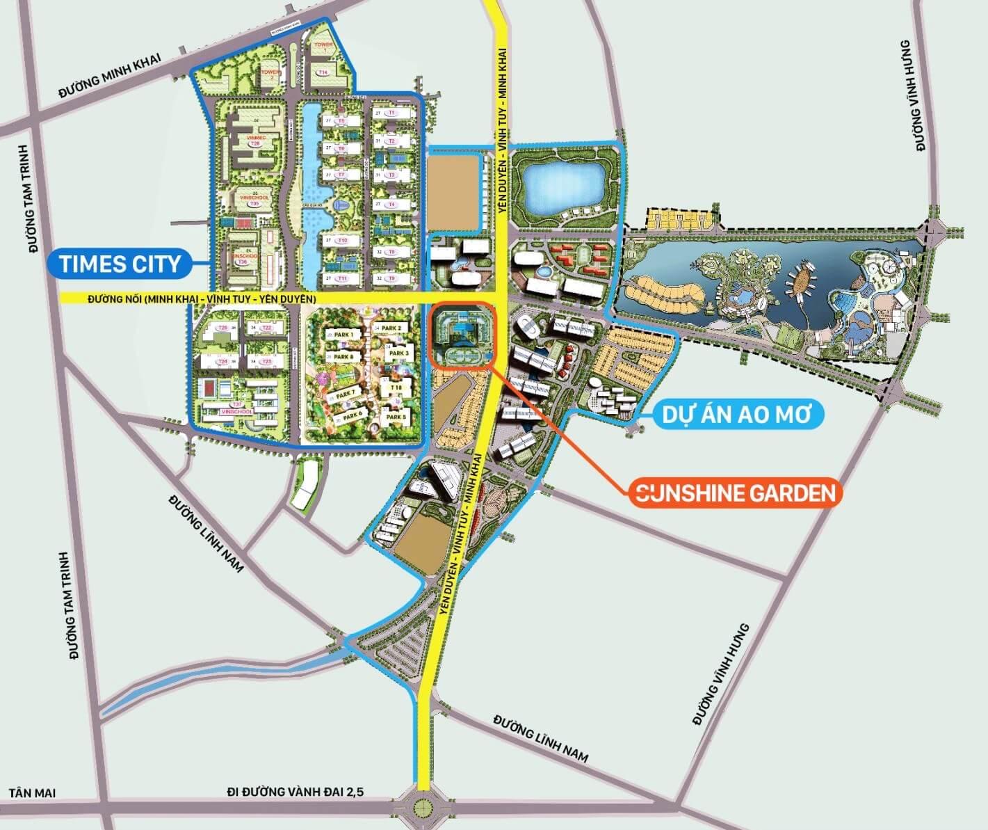 Bản đồ giao thông dự án chung cư Minh Khai