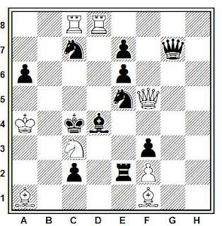 Problema de mate en 2 compuesto por Henrik Molnar (1º Premio, Magyar Sakkvilág 1941)